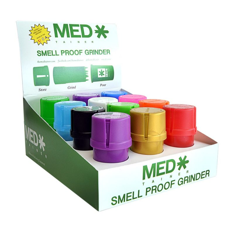 The MedTainer smell proof grinder